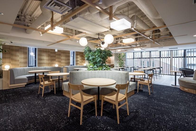 レンタルオフィス「ビジネスエアポート京橋」の共有スペース