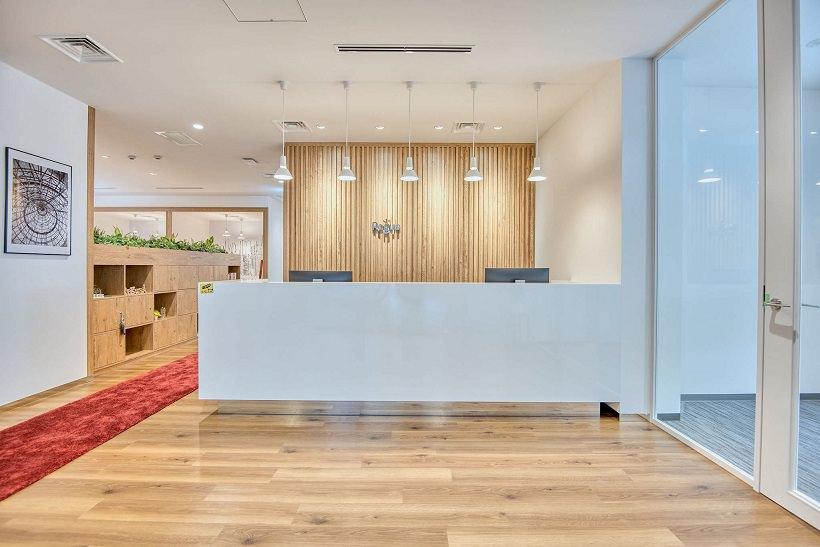 レンタルオフィス「リージャス近鉄難波ビルビジネスセンター」のレセプション