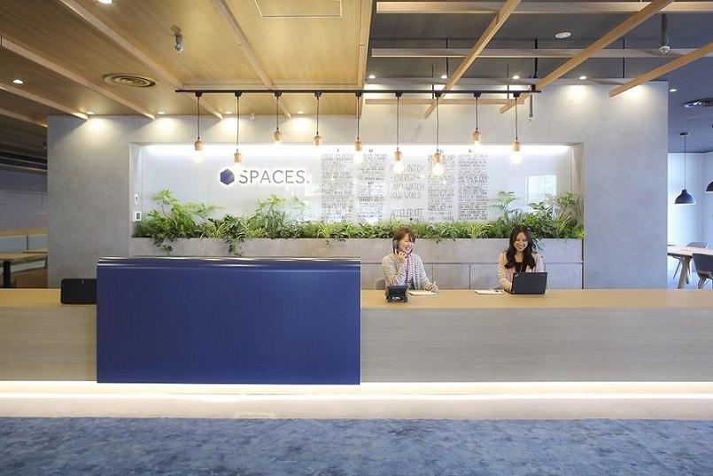 レンタルオフィス「Spaces大手町ビル」の受付
