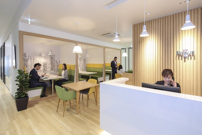 レンタルオフィス「リージャスクラックス仙台ビジネスセンター」の受付