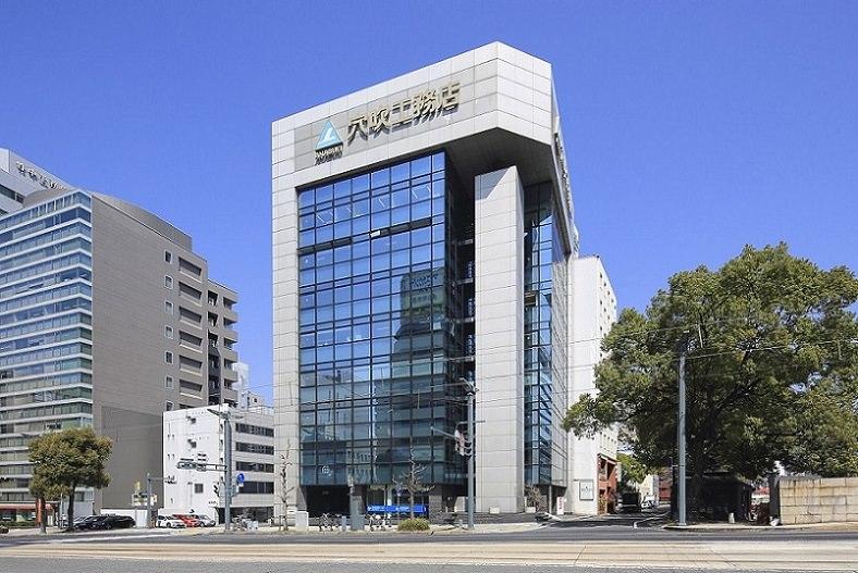 レンタルオフィス「リージャス広島稲荷大橋」が入居するビル