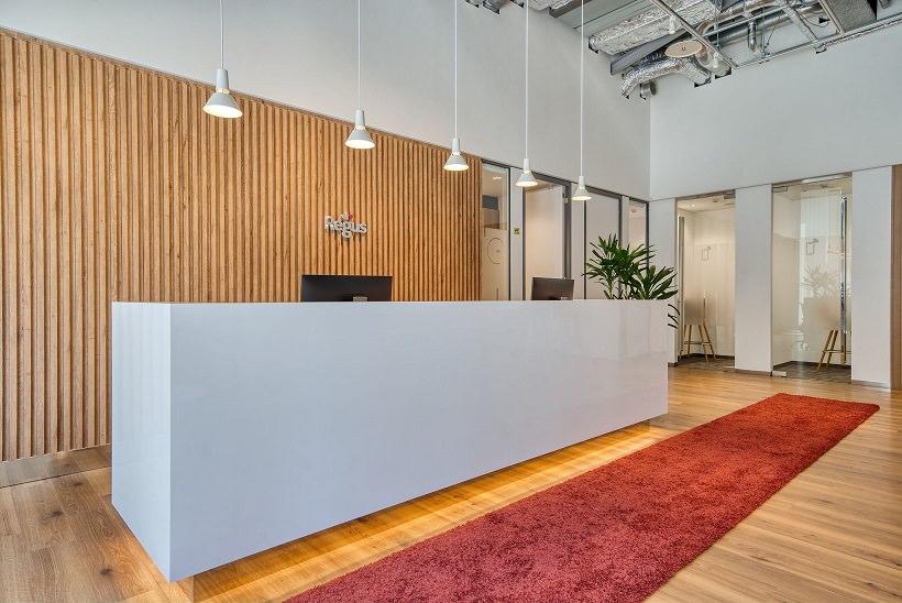 レンタルオフィス「リージャス新広島ビルディングビジネスセンター」の受付