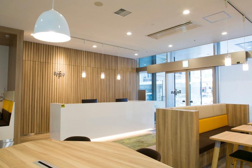 レンタルオフィス「リージャス静岡葵タワービジネスセンター」の受付