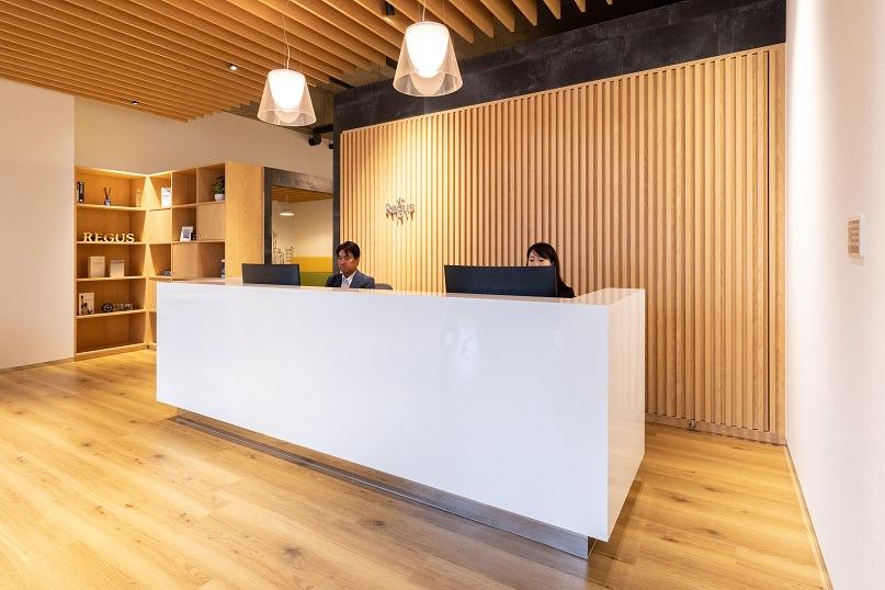 レンタルオフィス「リージャス 宮崎橘通ビジネスセンター」の受付